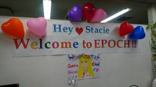 Stacie's Welcome Party! シアトルから新教師を迎えエポックで歓迎会!